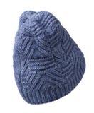 белизна предпосылки изолированная шлемом связанный шлем голубой шлем Стоковое Изображение