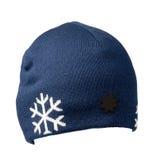 белизна предпосылки изолированная шлемом связанный шлем голубой шлем Стоковые Фотографии RF