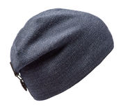 белизна предпосылки изолированная шлемом связанный шлем голубой шлем Стоковые Изображения