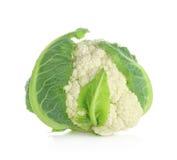 белизна предпосылки изолированная cauliflower Стоковые Изображения RF