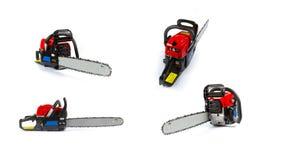 белизна предпосылки изолированная chainsaw новая Стоковые Изображения RF
