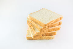 белизна предпосылки отрезанная хлебом Стоковые Изображения RF