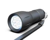 белизна предпосылки черным изолированная электрофонарем иллюстрация 3d Стоковое Фото