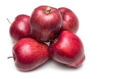 белизна предпосылки яблока красная Стоковое Изображение RF