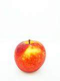 белизна предпосылки яблока красная Стоковое Фото