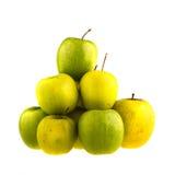 белизна предпосылки яблок изолированная зеленым цветом Плодоовощ Стоковые Изображения RF