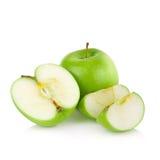 белизна предпосылки яблок изолированная зеленым цветом Стоковое фото RF