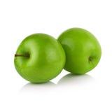 белизна предпосылки яблок изолированная зеленым цветом Стоковые Изображения