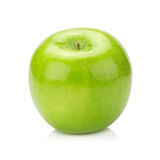 белизна предпосылки яблок изолированная зеленым цветом Стоковые Изображения RF