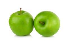 белизна предпосылки яблок изолированная зеленым цветом Стоковое Изображение RF