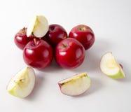 белизна предпосылки яблок красная top Стоковое Изображение RF