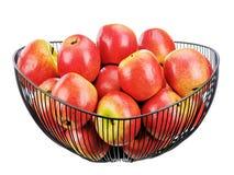 белизна предпосылки яблок свежая изолированная красная Стоковые Фотографии RF