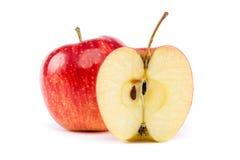 белизна предпосылки яблок свежая красная Стоковые Фотографии RF