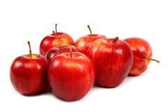 белизна предпосылки яблок свежая красная Стоковая Фотография RF