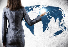 белизна принципиальной схемы изолированная глобализацией Стоковые Изображения RF