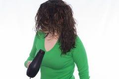 белизна путя более сухих волос предпосылки закрепляя изолированная стоковая фотография