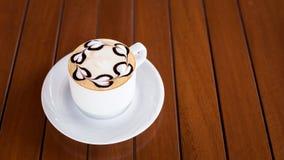 белизна путя кофейной чашки капучино предпосылки изолированная Стоковая Фотография RF