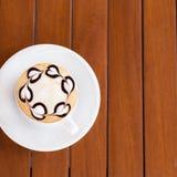 белизна путя кофейной чашки капучино предпосылки изолированная Стоковое Изображение RF