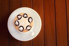 белизна путя кофейной чашки капучино предпосылки изолированная Стоковое фото RF