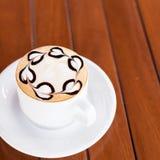 белизна путя кофейной чашки капучино предпосылки изолированная Стоковые Изображения RF