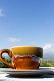 белизна путя кофейной чашки предпосылки изолированная espresso Стоковые Изображения