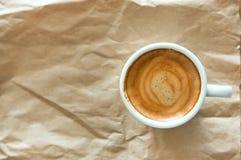 белизна путя кофейной чашки предпосылки изолированная espresso Стоковые Изображения RF