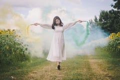 Белизна платья женщины Стоковое фото RF
