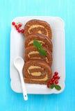белизна плиты шоколада торта Стоковые Фотографии RF