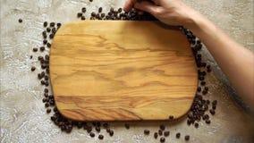 белизна рамки кофе фасолей предпосылки видеоматериал
