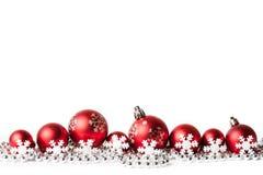 белизна рождества шариков красная Стоковая Фотография RF