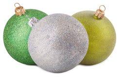 белизна рождества шариков цветастая изолированная Стоковые Изображения