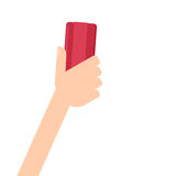 белизна руки истирателя предпосылки изолированная удерживанием Стоковая Фотография