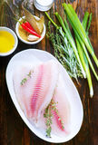 белизна серии изображения еды рыб выкружки предпосылки различная Стоковое Изображение