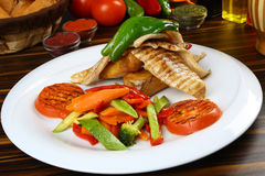 белизна серии изображения еды рыб выкружки предпосылки различная Стоковое Фото