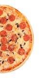 белизна серии пиццы изображения быстро-приготовленное питания предпосылки Стоковые Изображения