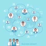 белизна сети дела предпосылки Иллюстрация концепции управления, organizati Стоковое Фото