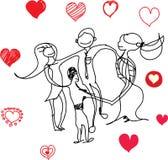 белизна символа красного цвета влюбленности предпосылки розовая Стоковая Фотография RF