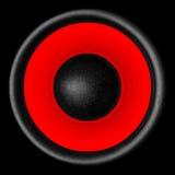 белизна системы диктора акустической тональнозвуковой предпосылки 3d красная Стоковая Фотография