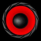 белизна системы диктора акустической тональнозвуковой предпосылки 3d красная Стоковые Изображения