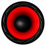 белизна системы диктора акустической тональнозвуковой предпосылки 3d красная Стоковое Изображение RF