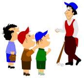 белизна силуэта бейсболистов предпосылки Стоковое фото RF