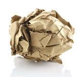 белизна скомканная предпосылкой бумажная Стоковое фото RF