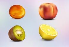 белизна смешивания плодоовощ предпосылки Стоковые Изображения