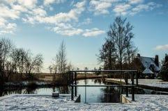 Белизна снега в Wanneperveen Стоковое фото RF