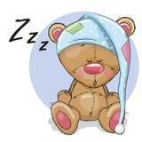 белизна спать медведя предпосылки иллюстрация вектора