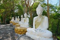 белизна статуи Будды Стоковое Фото