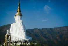 белизна статуи Будды Стоковая Фотография