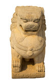 белизна статуи льва предпосылки Стоковые Фотографии RF