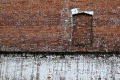 белизна стены красного цвета кирпича Стоковые Фото