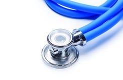 белизна стетоскопа аппаратуры доктора предпосылки Стоковое Изображение